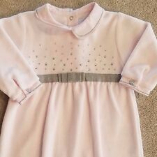 SWEET! NWOT TARTINE ET CHOCOLAT 3 MONTH PINK VELOUR FOOTED SLEEP N PLAY OUTFIT
