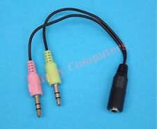 3.5mm Audio Mic Splitter Female to 2 Male Adapter For Apple Earphone Headphone