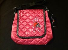 Pro-FAN-ity NFL Cleveland Brown's Purse Handbag by Littlearth Breast Cancer Pink