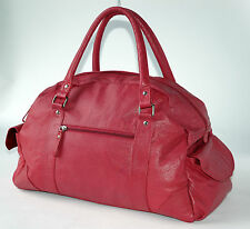 Tommy & Kate , DEEP PINK , SOFT LEATHER WEEKEND / OVER NIGHT OR GYM BAG , VGC