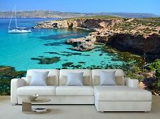 Yacht in Comino - Malta 3D Mural Photo Wallpaper Decor Large Paper Wall