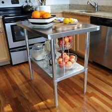 24 in. x 49 in. Stainless Steel Utility Table Kitchen Work Center Island NEW