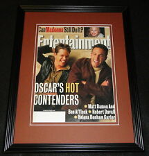 Matt Damon Ben Affleck Framed 11x14 ORIGINAL 1999 Entertainment Weekly Cover