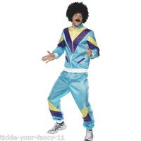 Men's Funny 80s 90s Scouser Shell Suit Fancy Dress Stag Party Costume Outfit Fun