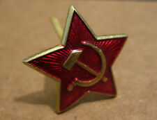 Original WW2 SOVIET RED ARMY enamel cap badge RED STAR hammer sickle