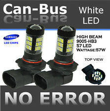 JDM 2x Canbus 9005 HB3 High Beam 57LED Projector bulbs DRL High Power #RE85