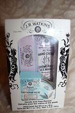 J.R. WATKINS Shea Butter Lavender Hand Cream & Foot Repair Salve Peppermint Set