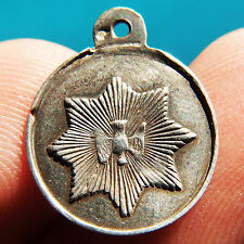 RARE HOLY SPIRIT (DOVE) SILVER MEDAL OLD BLESSED VIRGIN MARY CHARM PENDANT