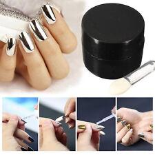 5g Effet Miroir Poudre Argenté Pigment Ongle Paillettes Chromé Manucure Nail Art