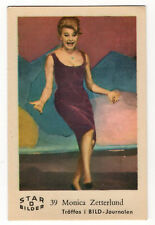 1960s Swedish Film Star Card Bilder D #39 Singer Actress Monica Zetterlund