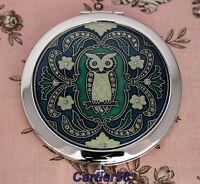Lady handbag Owl Compact Mirror BRIDESMAID/BIRTHDAY/CHRISTMAS gift (CHMTY-LV)