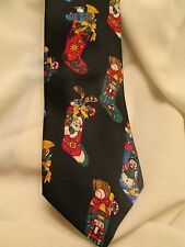 John Ashford Men's Christmas Necktie Black Stocking Stuffers