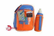 New Arctic Zone Kids Adult Football Pattern Insulated Lunch Pack Picnic Bag