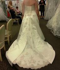 David's Bridal  A-Line, Strapless, Corset Wedding Gown - Never Worn