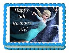FROZEN ELSA edible party cake topper decoration frosting sheet image