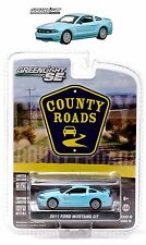 1:64 GreenLight *COUNTY ROADS R10* Baby Blue 2011 Ford Mustang GT *NIP*