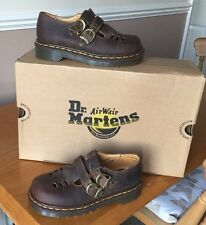 Vintage Dr Martens 8185 brown Mary Jane 2 buckle leather shoes UK 2 EU 35