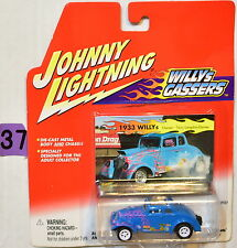 JOHNNY LIGHTNING 2001 WILLYS GASSERS 1933 WILLY'S WHITE LIGHTNING