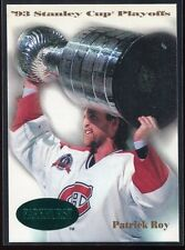 1992-93 Parkhurst Emerald Ice 510 Patrick Roy SCP Stanley Cup Playoffs