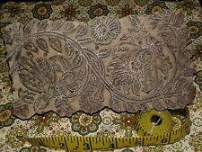 Vintage Large Wood Textile Print Block Carved Primitive Floral Wallpaper Stamp