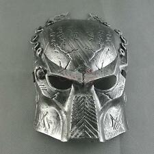 Simulation Mask Silver Heavyweight Scare Full Face Costume Halloween Party