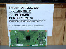 SHARP LC-70LE732U T-CON  BOARD  DUNTKF778WE16