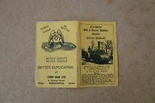 Steam Rally Programme 1970s  at Mr. Farrow's Field.Northants(used cndtn)