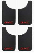 4PK Red GMC Logo 9x15 Inch Mud Flaps Splash Guards for Truck Van SUV and Car