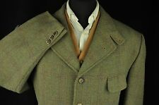 "True Vtg Wool Hunting Check Country Blazer Hacking Jacket - 44/46"" #662 STUNNING"