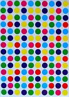 3/8 INCH COLOR CODING LABELS--DOT STICKERS--ASSORTED 7 COLORS (3400 PACK)