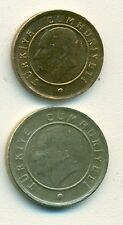2 DIFFERENT COINS from TURKEY - 1 & 10 KURUS (BOTH DATING 2011)