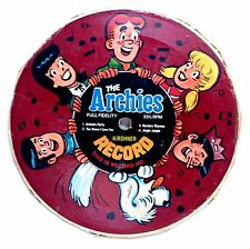 THE ARCHIES ~ CARDBOARD RECORD #1 4 SONG 331/3 RPM FULL FIDELITY KERSHNER RECORD