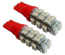 2x ampoule T10 W5W 12V 28LED SMD rouge veilleuses éclairage intérieur coffre