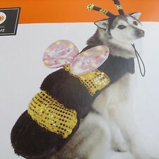 PET COSTUME LED BUMBLE BEE DOG  cat SIZE xs  NEW LIGHTS UP UP TO 10 LBS
