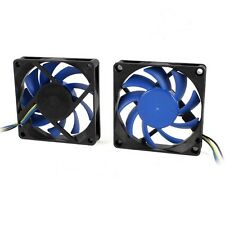 4 PIN 7cm 70mm PWM PC COMPUTER CASE CPU Cooler ventola di raffreddamento nero/blu LAME