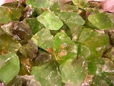 Calcite forest green all natural crystal Mexico 1 pound lot 10-20 pieces