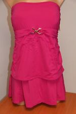 NWT Michael Kors Swimsuit Tankini 2 pc set Plus Sz 20W Radi Pink Skirt Strapless