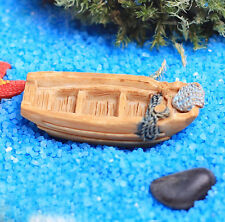 1x Micro landscape Resin Mini Boat ship DIY Ornament Fairy Garden Decor 2*4.5cm