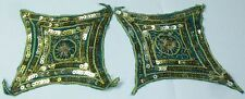 Vintage Hand Beaded Applique  Women Dress Decorative Patch Sewing Craft 4 pair