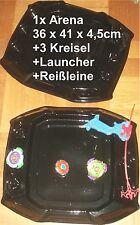 3x METALL KAMPFKREISEL + BATTLE ARENA für BEYBLADE + STARTER + REIßLEINE NEU