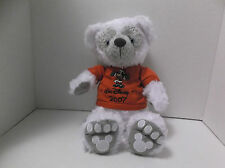 "2007 NYC DISNEY PRE DUFFY BEAR PLUSH Hidden Mickey White Christmas RARE 14"" NEW"