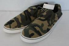 NEW Mens Camo Boat Shoes Size 9 Slip On Camouflage Casual Canvas Loafers Deck