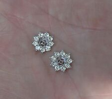 1.15 ctw Charles & Colvard Moissanite Diamond Flower Cluster Earring Jackets
