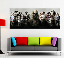 The Walking Dead Zombie Rick Daryl Poster Large Banner Wall Art Deco
