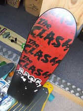 "NOS The Clash Punk ""The Roughed Deck"" Darven Skateboard, Powell, Santa Cruz"