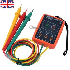 LEDs Phase Sequence Meter 3 Phase Rotation Indicator Tester with Buzzer Checker