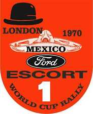 Racing Decals Nostalgic London 1970 Escort Mexico Rally Motorsport Stickers x 2