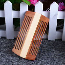 Natural Handmade Sandalwood Pocket Anti-Static Comb Beard Mustache Hair Brush