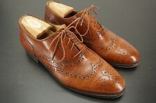 NEIMAN MARCUS by GRAVATI Brown Leather Wing Wingtips Brogued Dress Shoes - 8 M
