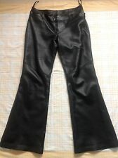 "BNWT ""Next"" Black Butter Soft Leather Trousers,10/S. £250"